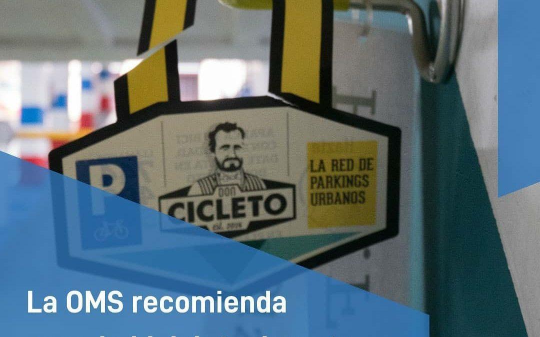 La OMS recomienda el uso de la bicicleta como medio de transporte